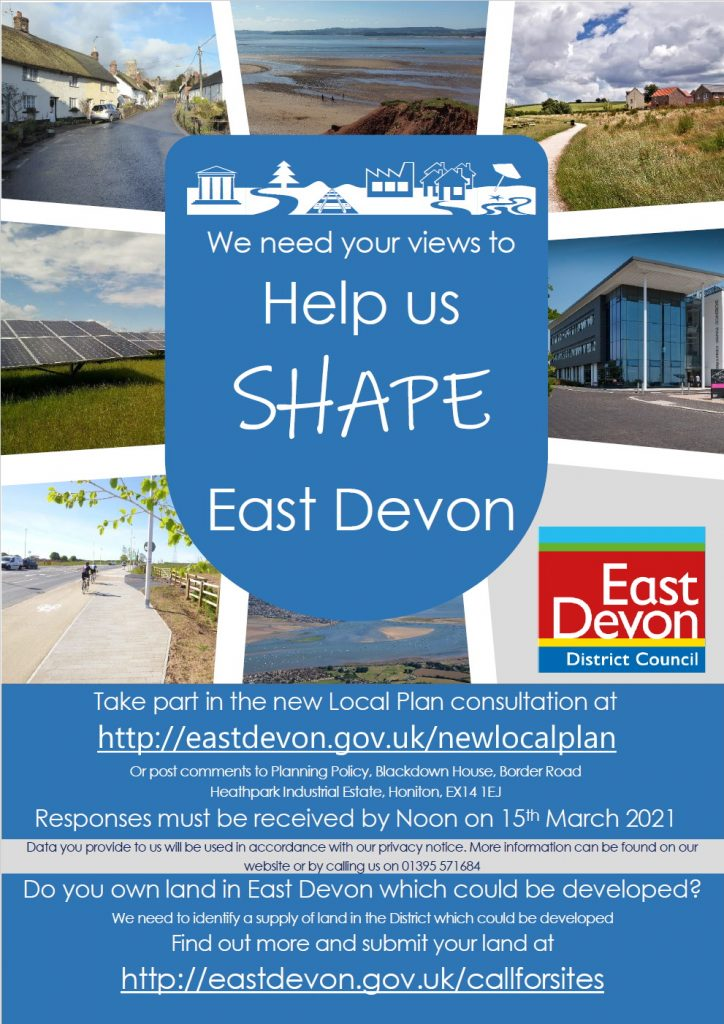 East Devon's New Local Plan poster